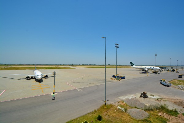 APRON AT SIALKOT INTERNATIONAL AIRPORT