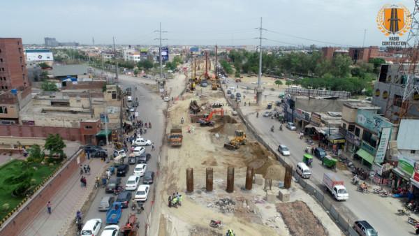 Flyover at Shaukat Khanum Intersection Lahore