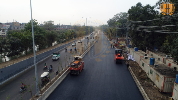 Construction of Chaubucha Underpass renamed Beijing Underpass along Canal Road Lahore